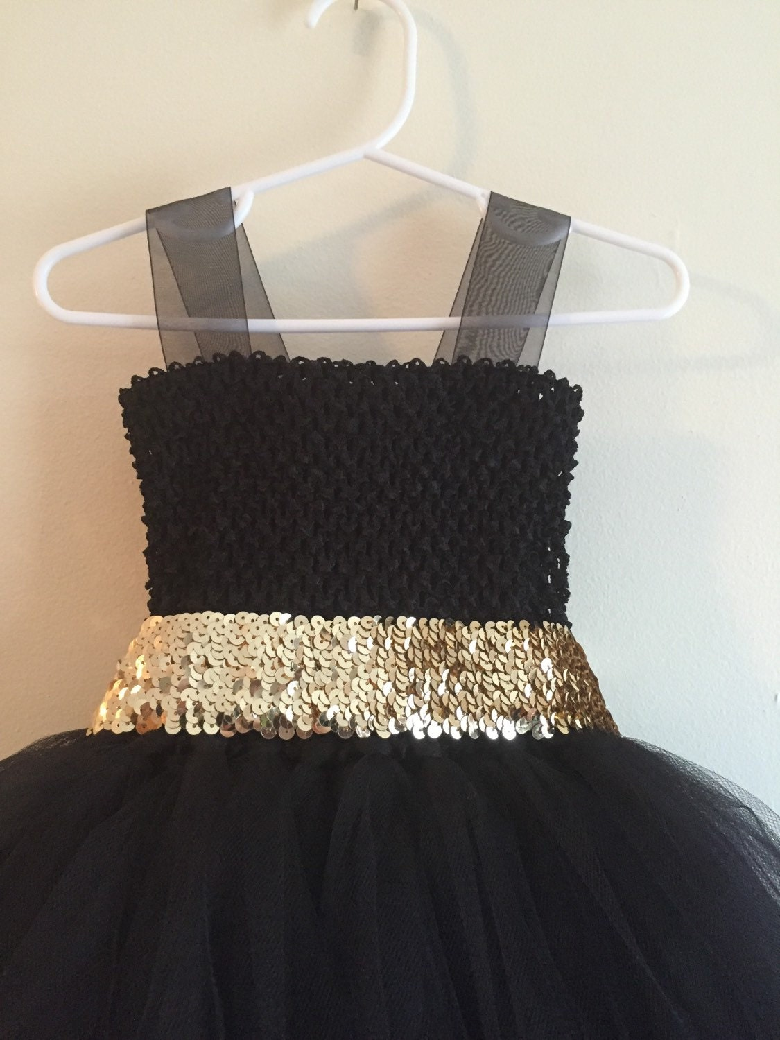 Black Tulle Flower Girl Dress Sequin Sash Black Flower Girl