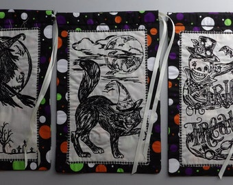 "Your Choice of Embroidered Halloween Trick or Treat Bag 7""x10-3/4"" NEW"