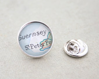 Custom lapel pin badge/ Map lapel pin/ Personalized Badge/ You can choose any location for this lapel pin/ Pinback button/
