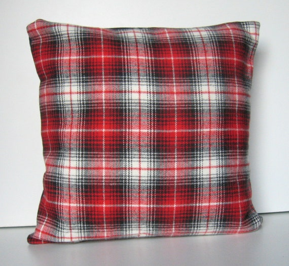 Red Plaid Throw Pillow Cover : Plaid Flannel Pillow Cover Throw Pillow Buffalo Plaid