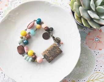 Create. Eclectic Bead Bracelet
