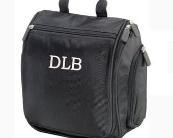 Personalized Dopp Kit   SET of 9   Mens Toiletry Bag   Groomsmen Gift   Hanging Travel Bag   Travel Kit   Father's Day Gift   Gift for Men