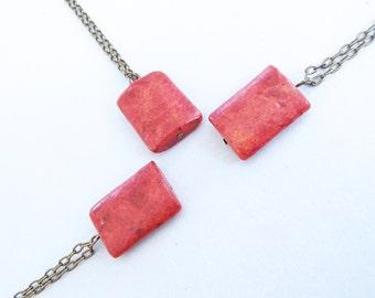 Pendant Necklace - Red Pendant Necklace