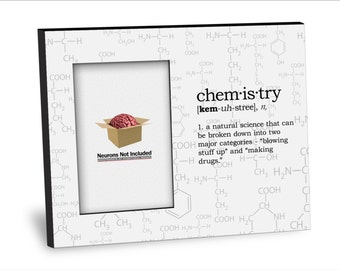 Graduation Picture Frame - Chemistry Definition Picture Frame - Personalization Available - 8x10 Frame - 4x6 Picture