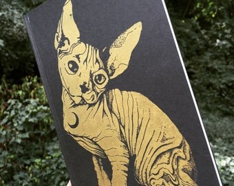 "Sphynx Hairless Cat Sketchbook Notebook 5""'x 7"""