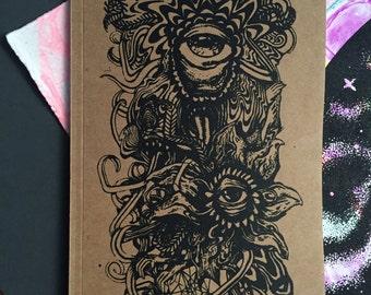 """Plant Monster Sketchbook Notebook 5""""'x 7"""""""