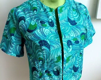 Psychedelic 1950s/60s Bolero Jacket (M Fit)