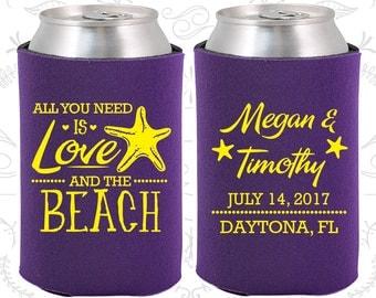 Purple Wedding, Can Coolers, Purple Wedding Favors, Purple Wedding Gift, Purple Party Decor (413)