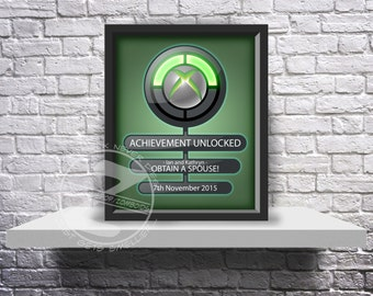 CUSTOM Xbox Achievement unlocked print Choose Inserts, Size, and Frame