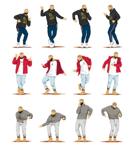 Hotline Bling Dance Music Poster Dance Tutorial Illustration - Drakes hotline bling dance moves go with just about any song