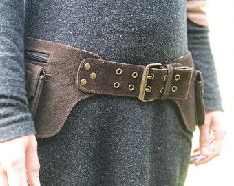 Selena Leather Utility Belt, Sturdy Festival Belt, Good Quality Pocket Belt, Fancy Bum Bag,Hip Bag, Festival Fanny Pack //CHRISTMAS SALE//