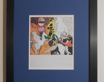 """Mounted and Framed - Issac Babel Riding with Budyonny Print by R B Kitaj - 14"""" x 11"""""""