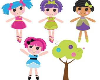 Custom Temporary Tattoos - Kids Favors- Lalaloopsy