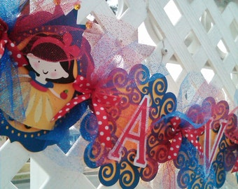Snow White Party Banner