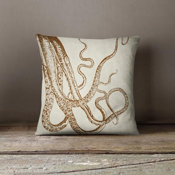 Octopus Pillow Nautical Decor Decorative Pillow Cover Sea