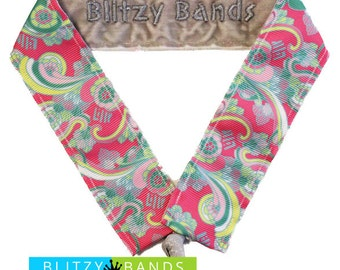 Lilly Inspired Headband in Shell We Dance print, Lilly Pulitzer Headband, Nonslip headband, Blitzy Band, headband, yoga headband