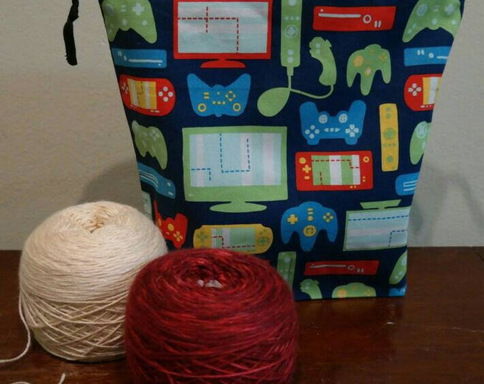 Gaming Large, Reversible, Drawstring Project bag