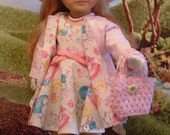 Easter Dress, Coat, Hat, Purse, Gloves, Necklace, Shoes for Maryellen