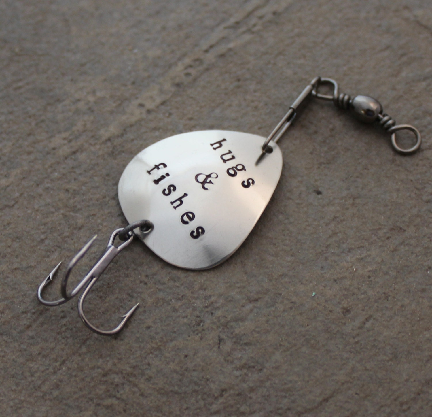 Personalized fishing lure fishing gear gift for dad for Unique fishing gifts