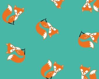 "0,5 m Printed fabric ""Best Friends"" Fox"