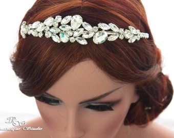 Bridal headpiece Crystal wedding headband Rhinestone headband Crystal hair accessory Crystal headpiece 3140 IN STOCK