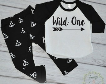 Wild One Boy Birthday Outfit Wild One Shirt First Birthday Shirt One Year Old Birthday Boy Clothes Hipster Boy Clothes Boy Outfit Set 111