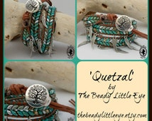 QUETZAL Superduo Wrap Kit, Beading Kit, Bead Kit, Beading Patterns, Herringbone Pattern, Jewelry Kit, Bracelet Kit -No Pattern-