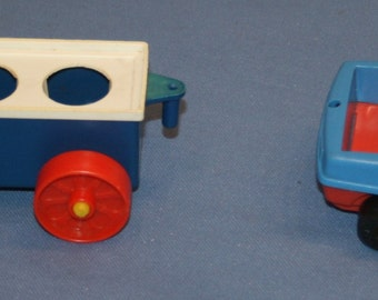 Vtg Playskool Car Vintage Toy Pretend Play 1970's Blue Auto Automobile