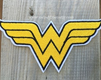 Wonder Woman iron on patch wonder Woman iron on appliques wonder Woman iron on patch Wonder girl embroidered patch