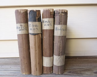 4 Antique Works of Wordsworth The Poetical Works of William Wordsworth Rare antique poetry book from 1854. Victorian 161 year old books