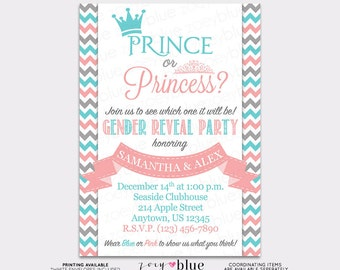 Prince or Princess Gender Reveal Invitation Printable