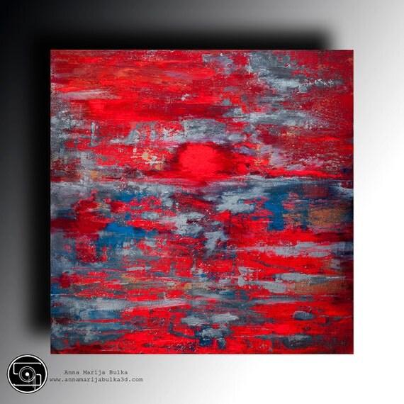 fluoreszierende abstrakt acryl gem228lde von
