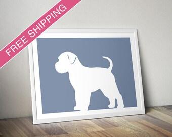 Brussels Griffon Print (Natural) - Brussels Griffon Silhouette - Brussels Griffon art, dog gift, dog wall art