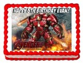 Hulkbuster Avengers party edible cake image cake topper frosting sheet