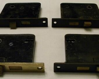 Vintage Antique Door Locks - Salvages Door Hardware - Rusty Door Locks - Steampunk - Assemblage Supplies