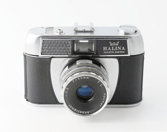 Halina Paulette Electric 35mm Point and Shoot Film Camera - Working