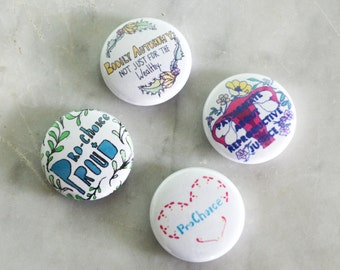 Pro Choice: Feminist Abortion Rights Pin Set
