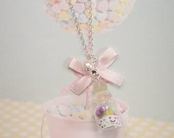 necklace candy jar