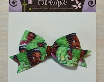 Boutique Style Hair Bow - Disney Princess, Tiana