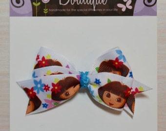Boutique Style Hair Bow - Dora the Explorer
