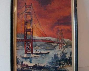 San Francisco framed art print, G. Soubeyran San FranciscoGolden Gate Bridge framed art print, Pierre Marc