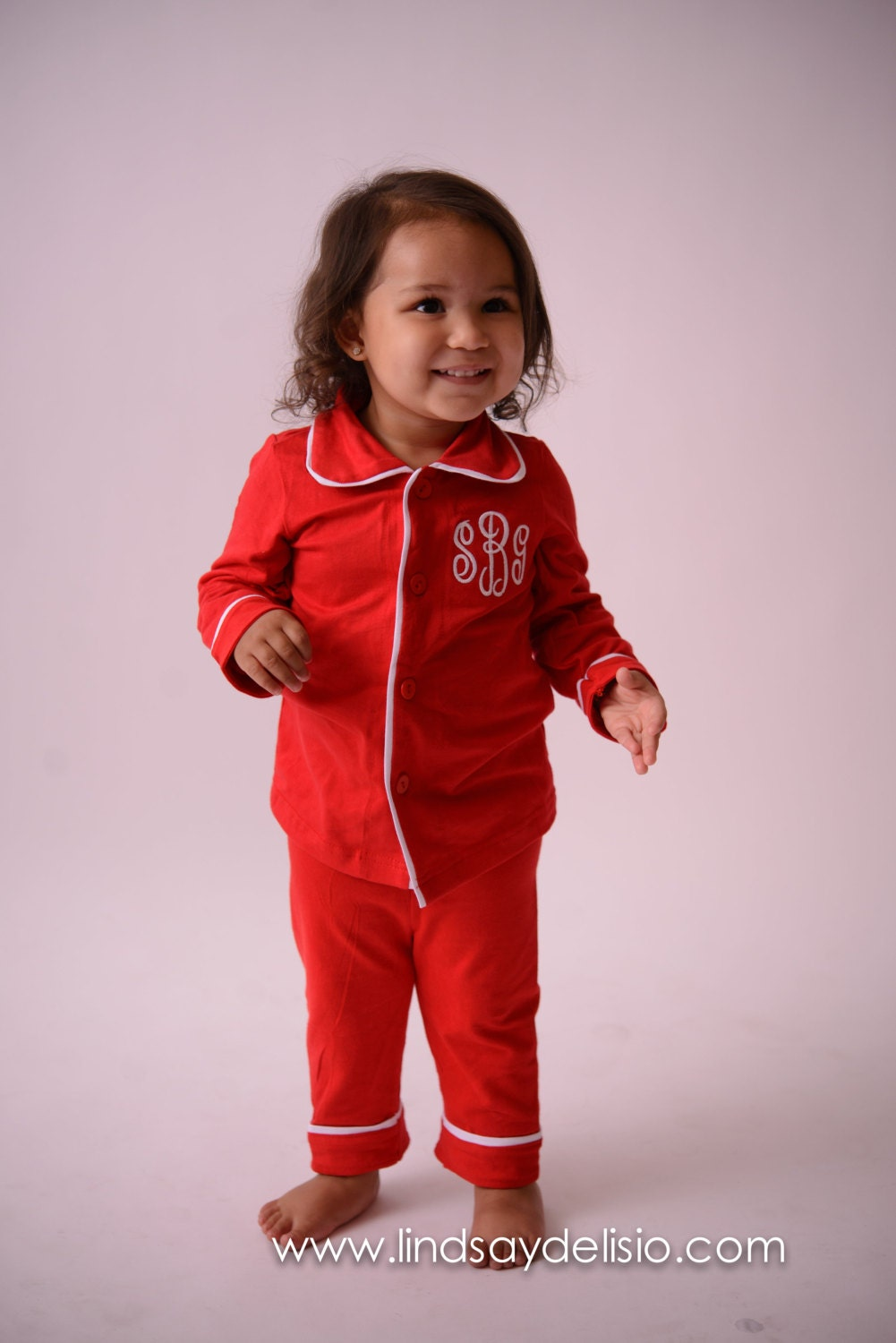 christmas pajamas for kids monogrammed in sizes 3 months to