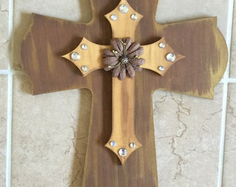 Wooden Distressed Cross