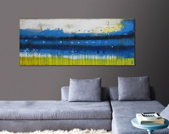 Painting, Abstract Art, Canvas Wall art, Talking to the other side 486, Canvas, Original Art, Landscape Art, Abstract Painting Ronald Hu