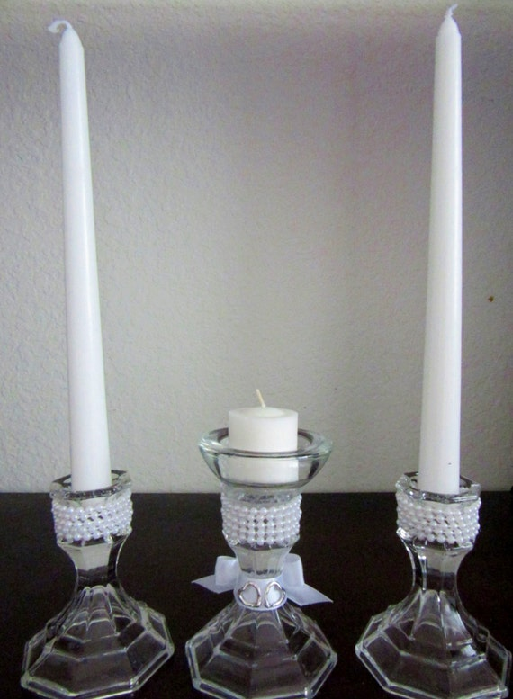 Wedding table centerpiece unity candle by