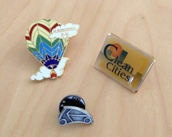 Pin Brooch Vintage Collection New Mexico, Hot Air Balloon, Car, Lot of 3