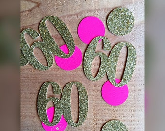 60th birthday confetti, 60th birthday decorations, confetti, birthday decorations, 60 birthday confetti