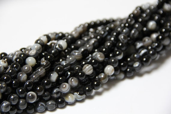 """Bull's Eye Agate 8mm smooth round beads 16"""" length full strand"""