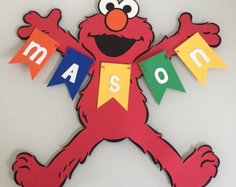 Personalized Elmo Name Banner