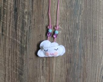 Felt Cloud Necklace
